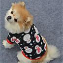 hesapli Pet Noel Kostümleri-Köpek Svetşört Köpek Giyimi Geometrik Siyah / Beyaz / Siyah Polar Kumaş Kostüm Evcil hayvanlar için Noel / Yeni Yıl'ınkiler