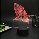 hesapli Yenilikçi LED Işıklar-1set 3D Gece Görüşü USB Batarya Renk Değiştiren Dekorotif