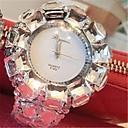 preiswerte Damenuhren-Damen Simulierter Diamant Uhr Quartz 30 m Wasserdicht Legierung Band Analog Glanz Schwarz / Silber - Weiß Schwarz