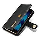 olcso Samsung képernyővédők-Case Kompatibilitás Samsung Galaxy A5(2017) / A3(2017) Pénztárca / Kártyatartó / Flip Héjtok Egyszínű Kemény Valódi bőr mert A3 (2017) / A5 (2017) / A7 (2017)
