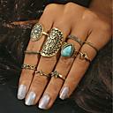 olcso Gyűrűk-Női Mértani Gyűrű Türkiz Ötvözet Nyilatkozat hölgyek Divatos gyűrű Ékszerek Arany / Ezüst Kompatibilitás Napi Egy méret 10pcs