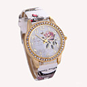 cheap Brooches-Women's Wrist Watch Quartz Hot Sale Leather Band Analog Charm Fashion White / Red / Brown - Gray Brown Red
