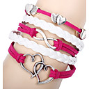 voordelige Haarsieraden-Dames Wikkelarmbanden / Lederen armbanden - Leder Hart Modieus Armbanden Rood Voor School / Uitgaan