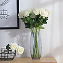 hesapli Temizlik Malzemeleri-2 şube Polyester Güller Masaüstü Çiçeği Yapay Çiçekler