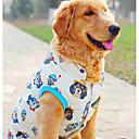 זול אביזרים ובגדים לכלבים-כלב וסט בגדים לכלבים אנימציה בז' פּוֹלִיאֶסטֶר תחפושות עבור חיות מחמד בגדי ריקוד גברים / בגדי ריקוד נשים יום יומי\קז'ואל