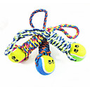 hesapli Kedi Oyuncakları-Köpek Köpek Oyuncağı Evcil Hayvan Oyuncakları Çiğneme Oyuncağı Tenis Topu Pamuk Evcil hayvanlar için