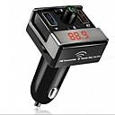 hesapli Araba Şarj Aletleri-çift usb bluetooth hands-free mp3 ses çalar araba fm verici desteği tf kartı usb flash disk for android ios me3l