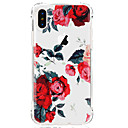 cheap iPhone Cases-Case For Apple iPhone X iPhone 8 iPhone 8 Plus Ultra-thin Transparent Pattern Back Cover Flower Soft TPU for iPhone X iPhone 8 Plus