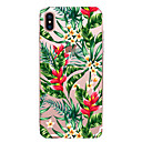 abordables Coques d'iPhone-CaseMe Coque Pour Apple iPhone X / iPhone 8 / iPhone 7 Ultrafine / Motif Coque Fleur Flexible TPU pour iPhone X / iPhone 8 Plus / iPhone 8