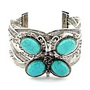 cheap Necklaces-Women's Turquoise Cuff Bracelet - Turquoise Animal Classic, Vintage Bracelet Silver For Daily