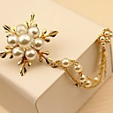 cheap Brooches-Women's Brooches - Pearl Flower Simple, Elegant Brooch Gold For Daily / Ceremony