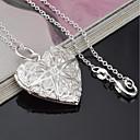 ieftine Carcase iPhone-Pentru femei Coliere cu Pandativ Inimă femei Modă Argilă Argintiu Coliere Bijuterii 1 Pentru Cadou