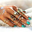 billige Ringe-Dame Krystal Ringe sæt tommelfingerring Legering Bladformet Blomst Damer Usædvanlige Asiatisk Unikt design Vintage Sød Moderinge Smykker Guld / Sølv Til Bryllup Fest Halloween Fødselsdag Forlovelse