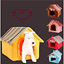 Χαμηλού Κόστους Παιχνίδια για γάτες-Γάτα Σκύλος Κρεβάτια Κατοικίδια Χαλάκια & Μαξιλαράκια Μονόχρωμο Ριγέ Ζεστό Φορητό Πτυσσόμενο Moale Κίτρινο Καφέ Για κατοικίδια