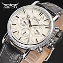 ieftine Ceasuri Bărbați-Jaragar Bărbați Ceas de Mână Aviation Watch Mecanism automat Piele Negru Calendar Cool Analog Clasic Casual Modă - Negru / Argintiu Roz auriu / Alb Negru / Roz auriu / Oțel inoxidabil