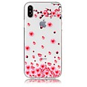 abordables Coques d'iPhone-Coque Pour Apple iPhone X iPhone 8 Ultrafine Transparente Motif Relief Coque Fleur Flexible TPU pour iPhone X iPhone 8 Plus iPhone 8