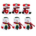 cheap Home Decoration-6PCS Snowman Santa Claus Elk Cutlery Suit Holders Pockets Knifes Forks Tableware Bags Christmas Dinner Table