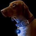 저렴한 갤럭시 S 시리즈 케이스 / 커버-고양이 강아지 칼라 태그 LED 조명 안전 솔리드 플라스틱 그린 블루 핑크