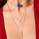 저렴한 귀걸이-여성용 기하학 문 목걸이 / 계층화 된 목걸이 - 레진 패션, 컬러풀 블랙, 다크 블루, 로즈 레드 목걸이 제품 파티, 일상