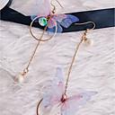 levne Náušnice-Dámské Visací náušnice Napodobenina perel Náušnice Motýl Sladký Elegantní Šperky Zlatá Pro Denní Jdeme ven