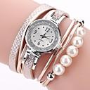tanie Kolczyki-Damskie Kwarcowy Sztuczny Diamant Zegarek Zegarek na bransoletce Chiński sztuczna Diament PU Pasmo Na co dzień Artystyczny Modny Czarny