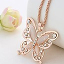 cheap Women's Watches-Women's Pendant Necklace / Chain Necklace - Butterfly Dainty, Vintage, Elegant Pink Necklace Jewelry For Gift, Daily