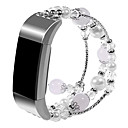 رخيصةأون أساور ساعات لهواتف سامسونج-حزام إلى Fitbit Charge 2 فيتبيت تصميم المجوهرات معدن شريط المعصم