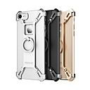 tanie Etui do iPhone-Kılıf Na Apple iPhone 7 / iPhone 7 Plus Odporne na wstrząsy / Uchwyt pierścieniowy Czarne etui Jendolity kolor Twarde Metal na iPhone 7