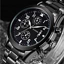 ieftine Ceasuri Bărbați-Bărbați Ceas de Mână Japoneză Quartz 30 m Calendar Cool Oțel inoxidabil Bandă Analog Lux Modă Negru - Negru Un an Durată de Viaţă Baterie / SSUO AG4