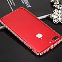 hesapli Kulaklık Setleri ve Kulaklıklar-Pouzdro Uyumluluk iPhone 7 Apple iPhone 7 Şoka Dayanıklı Tampon Tek Renk Sert Metal için iPhone 8 iPhone 7