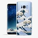 Χαμηλού Κόστους Θήκες / Καλύμματα Galaxy S Series-tok Για Samsung Galaxy S8 Plus / S8 Με σχέδια Πίσω Κάλυμμα Γραμμές / Κύματα / Τοπίο Μαλακή TPU για S8 Plus / S8 / S7 edge