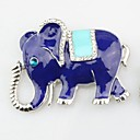cheap Brooches-Brooches - Imitation Diamond Elephant, Animal Brooch Silver For Daily