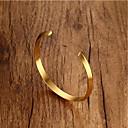 hesapli Bileklikler-Erkek Kadın's Geometrik Halhallar - Paslanmaz Çelik Moda Bilezikler Altın / Siyah / Gümüş Uyumluluk Hediye Günlük