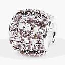 hesapli Boncuklar-DIY Mücevherat 1 adet Koraliki Kristal alaşım Beyaz Silindir boncuk 0.5 cm DIY Kolyeler Bilezikler