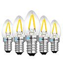 hesapli LED Küre Ampuller-BRELONG® 5pcs 2W 120lm E14 E12 LED Küre Ampuller 2 LED Boncuklar Sıcak Beyaz Beyaz Kırmızı 220V