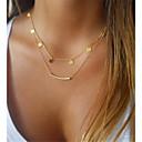 hesapli Kolyeler-Kadın's katmanlı Kolyeler - Klasik Hipoalerjenik Altın Kolyeler Mücevher 1pc Uyumluluk Hediye, Günlük