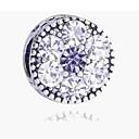 hesapli Boncuklar-DIY Mücevherat 1 adet Koraliki Simüle Elmas alaşım Gümüş Yuvarlak boncuk 0.2 cm DIY Kolyeler Bilezikler