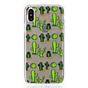 hesapli iPhone Kılıfları-Pouzdro Uyumluluk Apple iPhone X / iPhone 8 Şoka Dayanıklı / Ultra İnce / Temalı Arka Kapak Çiçek Yumuşak TPU için iPhone X / iPhone 8 Plus / iPhone 8