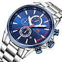 hesapli Erkek Saatleri-Erkek Bilek Saati Japonca Quartz Kronometre Gündelik Saatler Havalı Paslanmaz Çelik Bant Analog Günlük Minimalist Gümüş - Kahve Mavi Siyah / Beyaz