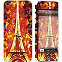 hesapli iPhone Stickerları-1 parça Deri Etiket için Çizilmeye Dayanıklı Eiffel Kulesi Tema PVC iPhone 5c