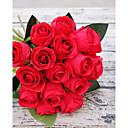 preiswerte Künstliche Blumen-Künstliche Blumen 18 Ast Pastoralen Stil Rosen Tisch-Blumen