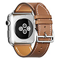 저렴한 애플 시계 밴드-시계 밴드 용 Apple Watch Series 4/3/2/1 Apple 모던 버클 천연 가죽 손목 스트랩