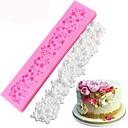 abordables Gadgets & Ustensiles de Cuisine-moules de silicone de frontière de gâteau de perle de mariage noël cupcake fondant des outils de décoration gumpaste moules d'argile de chocolat