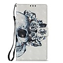 cheap Cases / Covers for Sony-Case For Sony Xperia XZ1 Xperia L2 Card Holder Wallet with Stand Flip Magnetic Full Body Cases Skull Hard PU Leather for Xperia XA2 Sony