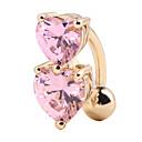 Χαμηλού Κόστους Κοσμήματα σώματος-Cubic Zirconia Δαχτυλίδι / Δακτύλιος της κοιλιάς - Ζιρκονίτης, Επιχρυσωμένο Καρδιά Γκόθικ Γυναικεία Κόκκινο / Μπλε / Ροζ Κοσμήματα Σώματος Για Απόκριες / Κλαμπ