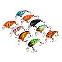 preiswerte Ferngläser-9 pcs Angelköder kleiner Fisch Seefischerei / Fliegenfischen / Köderwerfen / Eisfischen / Spinn / Spring Fischen / Fischen im Süßwasser / Karpfenangeln