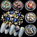 hesapli Makyaj ve Tırnak Bakımı-5 pcs Işıltılı Simli / Kristal Metal Boncuklar / Nail Jewelry Mücevher Setleri / Aksesuar / Dekorasyonlar