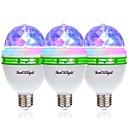 preiswerte Magischer Würfel-YouOKLight 3 Stück 3W - E26 / E27 LED Kugelbirnen 3 LED-Perlen Hochleistungs - LED Dekorativ RGB 85-265V