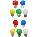 preiswerte DIY-Sets-10 Stück 1W 100lm E26 / E27 LED Kugelbirnen G45 8 LED-Perlen SMD 2835 Dekorativ Weiß Grün Gelb Blau Rot 220-240V