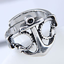 cheap Rings-Men's Band Ring - Anchor European, Fashion, Steampunk Adjustable Silver For Daily